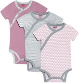 Skip Hop Baby-Girls Newborn Petite Triangles Side Snap Short Sleeve Bodysuit