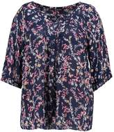 Evans RED LEAF PRINT TIERED TOP Tunic print
