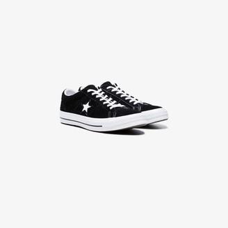 Converse Black One Star premium suede low top sneakers