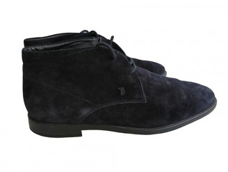 Tod's Navy Suede Boots