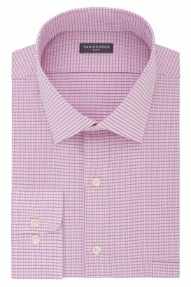 Van Heusen Men's FIT Dress Shirt Flex Collar Stretch Check (Big and Tall)