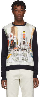 Lanvin Navy Babar Crewneck Sweater