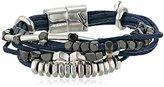 "Kenneth Cole New York Bar Harbor"" Mixed Bead Multi-Row Cord Bracelet"
