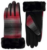 George Faux Fur Trim Gloves