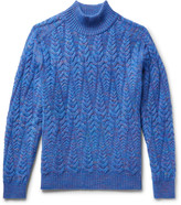 Missoni - Cable-knit Space-dyed Wool-blend Sweater