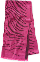 MICHAEL Michael Kors Zebra Jacquard Wrap & Scarf in One, Only at Macy's