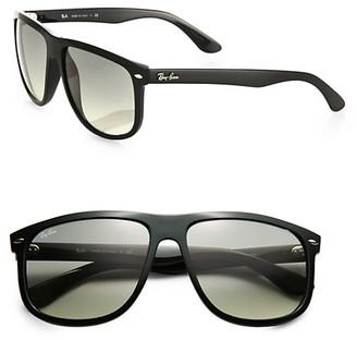 Ray-Ban RB4147 Flat-Top Boyfriend Wayfarer Sunglasses