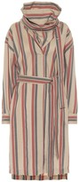 Acne Studios Striped wool-blend dress