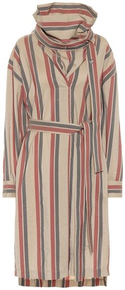Acne Studios Striped wool-blend dress