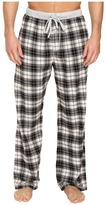 True Grit Vintage Flannel Whiskey Check Flannel Pants with Heather Knit Trim