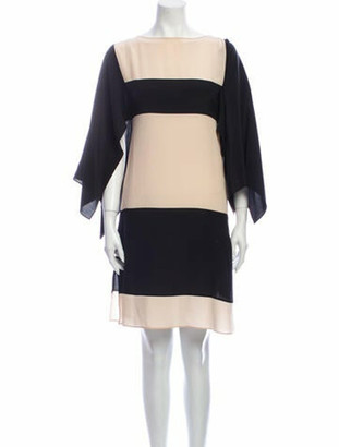 Vionnet Silk Knee-Length Dress Black