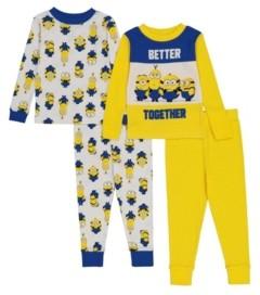 AME Minions Toddler Boys 4-Piece Pajama Set