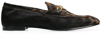 Tom Ford Leopard Print Chain Loafers
