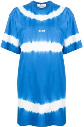MSGM tie-dye T-shirt dress