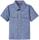 Andy & Evan Schiffli Shirt (Toddler/Kid) - Navy 2T
