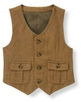 Janie and Jack Herringbone Wool Blend Suit Vest