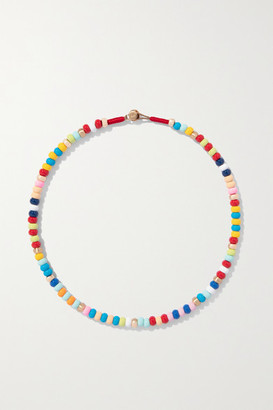 Roxanne Assoulin This And That Enamel And Rose Gold-tone Necklace - Red