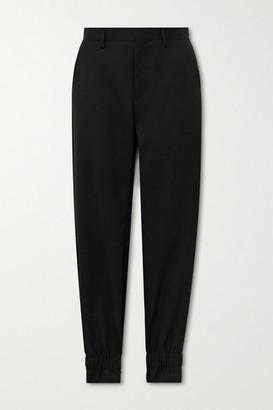 Noir Kei Ninomiya Wool-gabardine Straight-leg Pants - Black