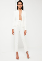Missguided White Tailored Skinny Pants