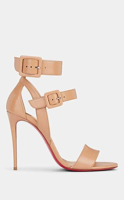 Christian Louboutin Women's Multipot Leather Sandals - Nude