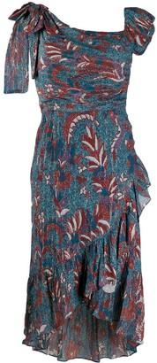 Ulla Johnson Asymmetric Printed Ruffle Dress