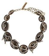 Oscar de la Renta Enamel & Crystal Collar Necklace