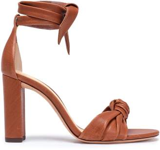 Alexandre Birman Clarita Knotted Leather Sandals