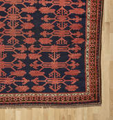Rejuvenation Traditional Kyrgyz Rug in Red and True Indigo Blue