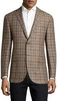 Corneliani Men's Plaid Notch Lapel Sportcoat