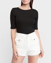 Express Mid Rise Patch Pocket Shorts