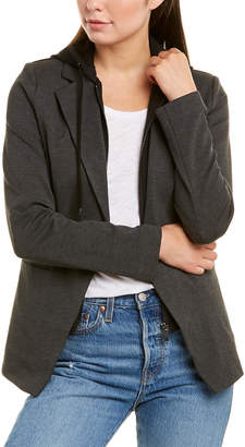Bagatelle Collection Hooded Ponte Blazer
