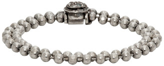Emanuele Bicocchi SSENSE Exclusive Silver Double Beaded Bracelet
