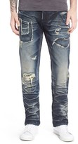 PRPS 'Barracuda' Repaired Straight Leg Jeans (Enzyme)