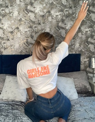adidas x Girls Are Awesome t-shirt in white