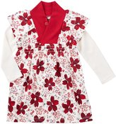 Tea Collection Kichi Double Decker Dress (Baby) - Chalk - 3-6 Months