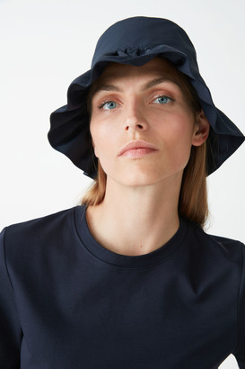 Cos Recycled Polyamide Ruched Bucket Hat