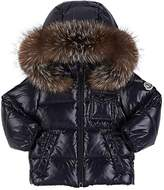 Moncler Fur-Trimmed Down-Quilted Hooded Coat