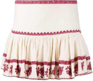 Etoile Isabel Marant Russell embroidered mini skirt