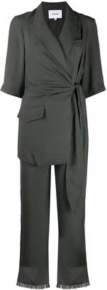 Nanushka V-Neck Wrap Jumpsuit