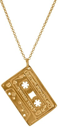Edge Only Mixed Tape Pendant In Gold