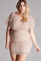 Forever 21 FOREVER 21+ Plus Size Soieblu Crochet Dress