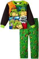 """Teenage Mutant Ninja Turtles Little Boys' Toddler """"Turtle-riffic!"""" 2-Piece Pajamas"""