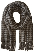 Hat Attack Houndstooth Blanket Scarf