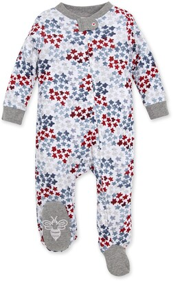 Burt's Bees Starry Night Sky Organic Baby Loose Fit Footed 4th of July Pajamas
