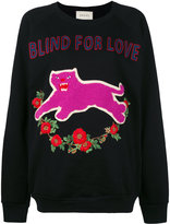 Gucci Blind For Love sweatshirt - women - Cotton/Spandex/Elastane - L