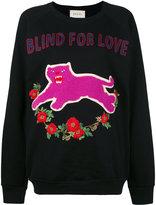 Gucci Blind For Love sweatshirt - women - Cotton/Spandex/Elastane - XS