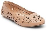 Women's Darlene Laser Cut Round Toe Ballet Flats - Mossimo Supply Co.