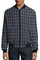 Brioni Printed Baseball Collar Jacket