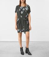 AllSaints Sonny Flora Silk Dress