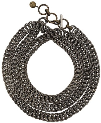 Lanvin Textured Chain Necklace